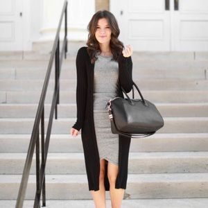 Long Black Thin Cardigan BCBG MAXAZRIA